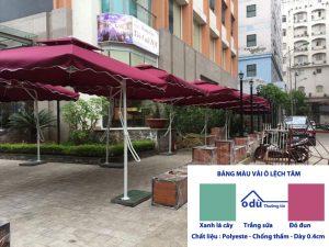 Ô quán cafe lệch tâm vuông loại thường 2.5m