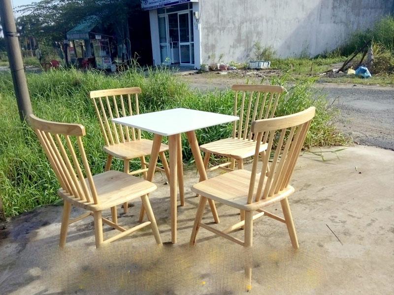 Bàn cafe gỗ 08
