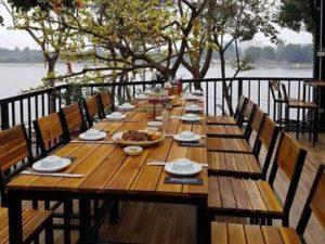 Bàn ghế cafe gỗ 15 – BGG15