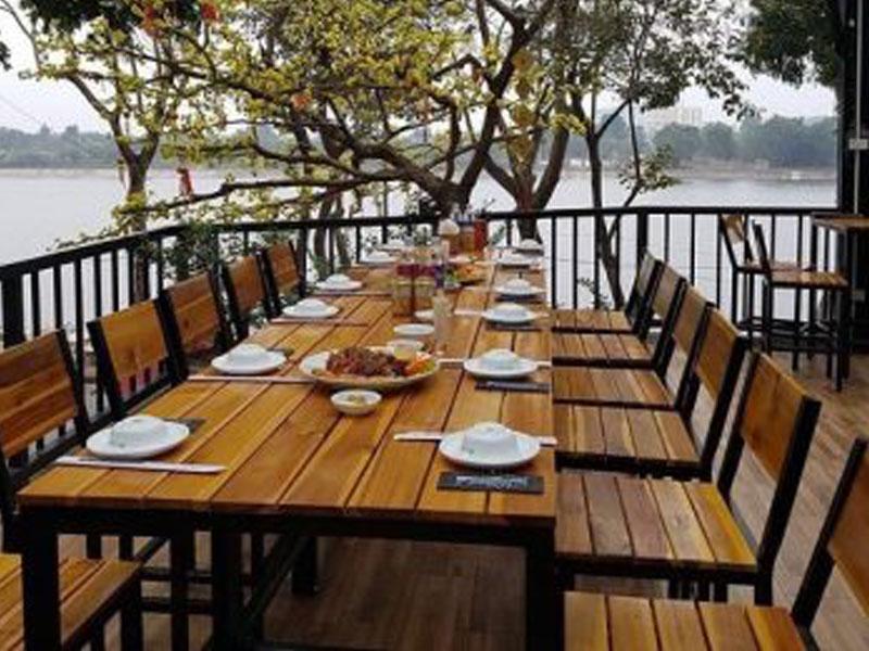 Bàn ghế cafe gỗ 15