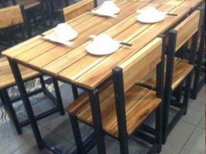 Bàn ghế cafe gỗ 16 – BGG16