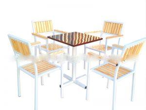 Bàn ghế gỗ cafe 06 – BGG06