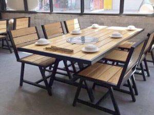Bàn ghế gỗ bán cafe 13 – BGG13