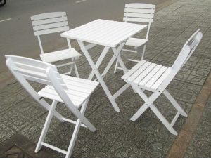 Bàn ghế gỗ cafef 01 – BGG01