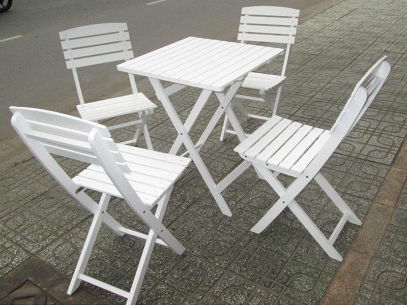 Bàn ghế gỗ cafe 01