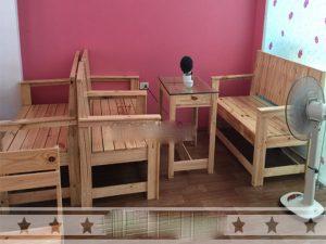 Bàn ghế gỗ quán cafe 04 – BGG04