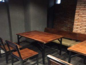 Bàn ghế gỗ quán cafe 17 – BGG17
