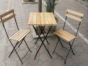 Bàn ghế sắt cafe 04 – BGS04