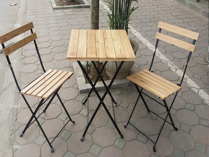 Bàn ghế sắt cafe 04