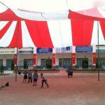 Giá dù che nắng sân trường tại Hà Nội